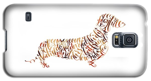 Galaxy S5 Case featuring the painting Dachshund by Laura Bell