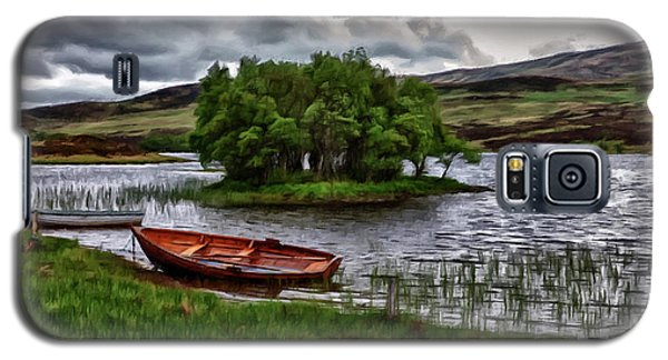 Dads Fishing Spot P D P Galaxy S5 Case by David Dehner