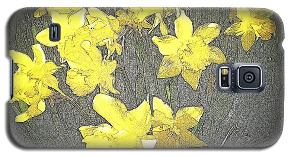 Daffodil 2-pencil Etch Galaxy S5 Case by Nick Kloepping