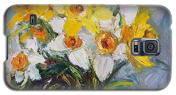 Galaxy S5 Case featuring the painting Daffodil In Spring  by Jennifer Beaudet