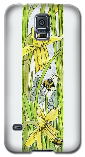 Daffodils And Bees Galaxy S5 Case