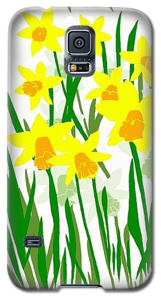 Galaxy S5 Case featuring the digital art Daffodils Drawing by Barbara Moignard