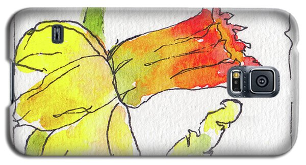Galaxy S5 Case featuring the painting Daffodils In January by Pat Katz