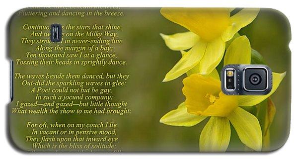 Daffodils Poem By William Wordsworth Galaxy S5 Case
