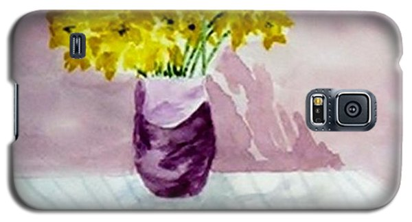 Galaxy S5 Case featuring the painting Daffs by Jamie Frier