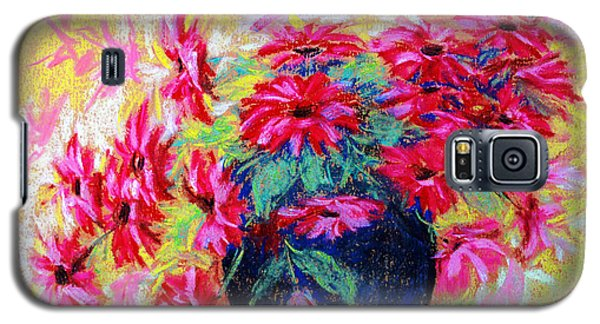 Daisies And Blue Vase Galaxy S5 Case by Jasna Dragun