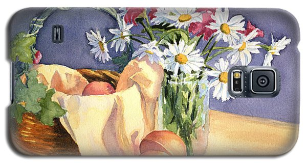 Galaxy S5 Case featuring the painting Daisies And Peaches by Vikki Bouffard