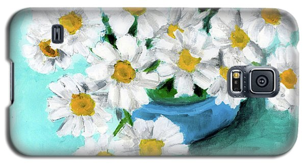 Daisies In Blue Bowl Galaxy S5 Case