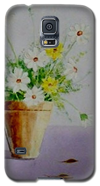 Galaxy S5 Case featuring the painting Daisies In Pot by Jamie Frier