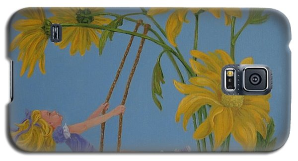 Galaxy S5 Case featuring the painting Daisy Days by Karen Ilari