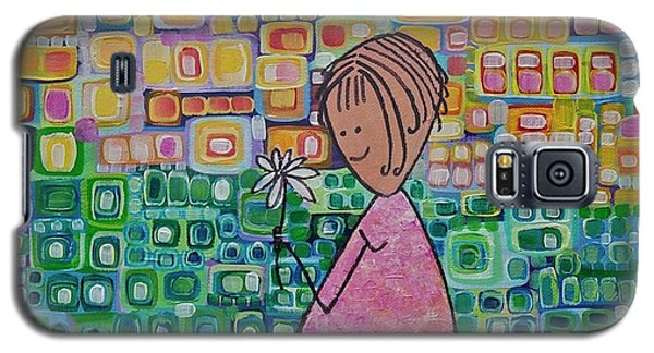Galaxy S5 Case featuring the painting Daisy by Donna Howard