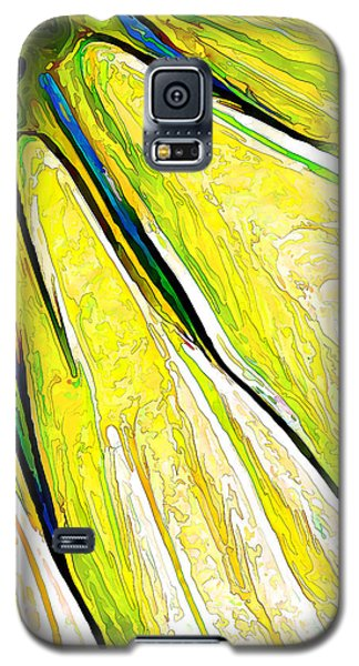 Daisy Petal Abstract In Lemon-lime Galaxy S5 Case