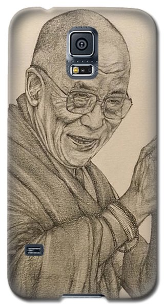 Dalai Lama Tenzin Gyatso Galaxy S5 Case by Kent Chua