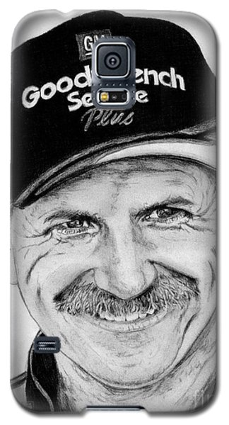 Galaxy S5 Case featuring the drawing Dale Earnhardt Sr In 2001 by J McCombie