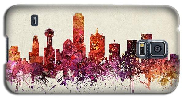 Dallas Cityscape 09 Galaxy S5 Case by Aged Pixel