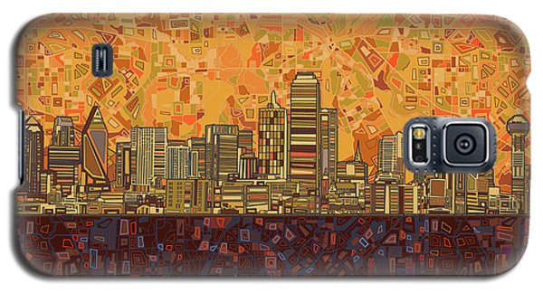 Dallas Skyline Abstract Galaxy S5 Case by Bekim Art
