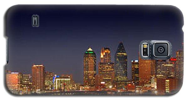 Dallas Skyline At Dusk Big Moon Night  Galaxy S5 Case