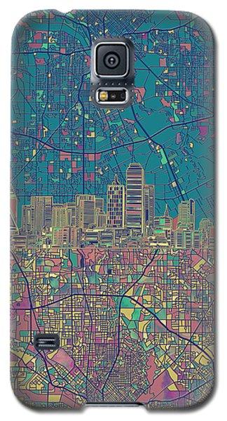 Dallas Skyline Map Green Galaxy S5 Case