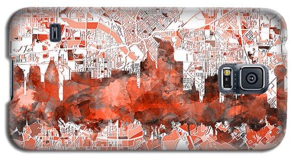 Dallas Skyline Map Red Galaxy S5 Case