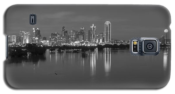 Dallas Skyline Trinity Black And White Galaxy S5 Case by Jonathan Davison