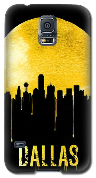 Dallas Skyline Yellow Galaxy S5 Case by Naxart Studio