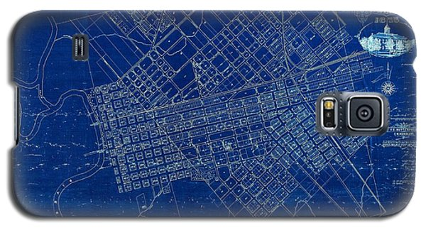 Dallas Texas Official 1875 City Map Blueprint Butterfield And Rundlett Galaxy S5 Case