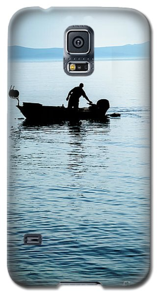 Dalmatian Coast Fisherman Silhouette, Croatia Galaxy S5 Case