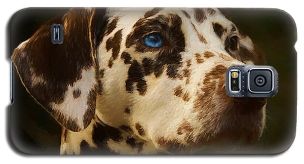 Galaxy S5 Case featuring the painting Dalmatian - Painting by Ericamaxine Price
