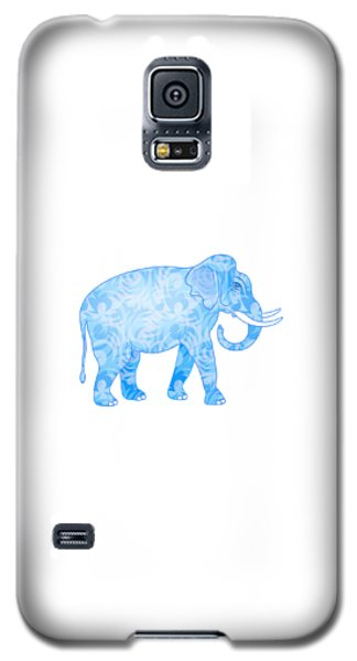 Damask Pattern Elephant Galaxy S5 Case by Antique Images