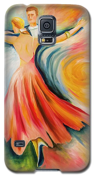Galaxy S5 Case featuring the painting Dance Me To The End Of Time by Itzhak Richter
