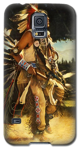 Galaxy S5 Case featuring the painting Dance Of His Fathers by Greg Olsen
