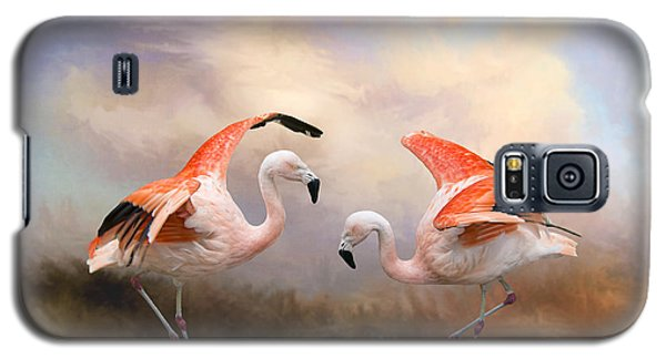 Galaxy S5 Case featuring the photograph Dance Of The Flamingos  by Bonnie Barry