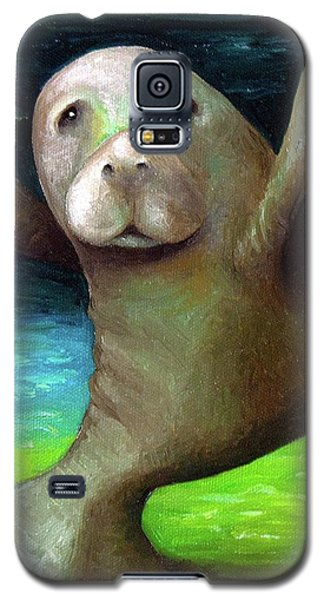 Dance Of The Manatee Galaxy S5 Case by Leah Saulnier The Painting Maniac