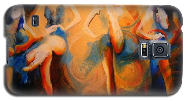 Galaxy S5 Case featuring the painting Dance Of The Sidheog by Georg Douglas