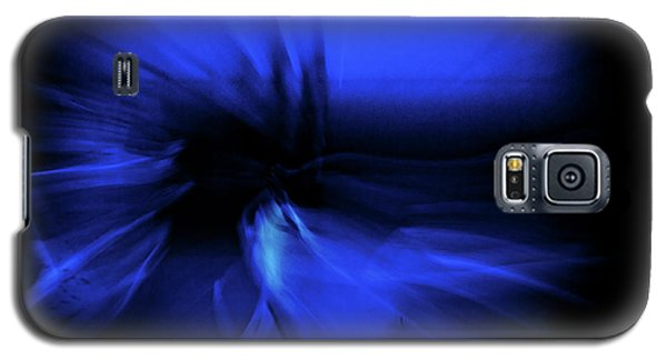 Dance Swirl In Blue Galaxy S5 Case