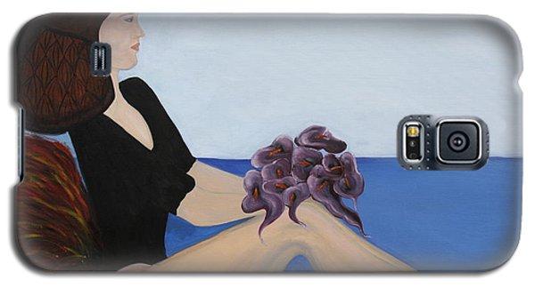 Galaxy S5 Case featuring the painting Dancer With Calla Lillies by Jolanta Anna Karolska