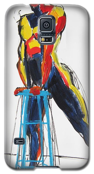 Galaxy S5 Case featuring the painting Dancer With Drafting Stool by Shungaboy X