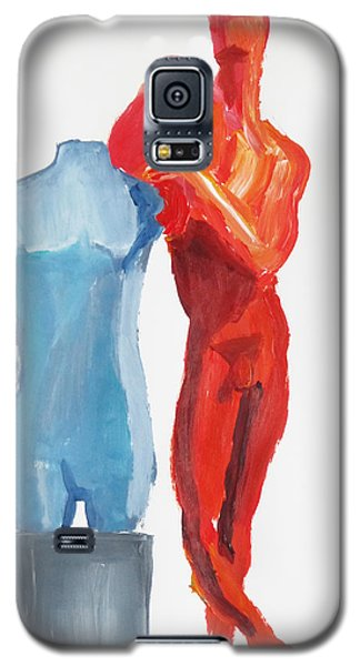 Galaxy S5 Case featuring the painting Dancer With Mannekin by Shungaboy X