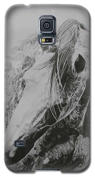Galaxy S5 Case featuring the drawing Dancing Angel by Melita Safran