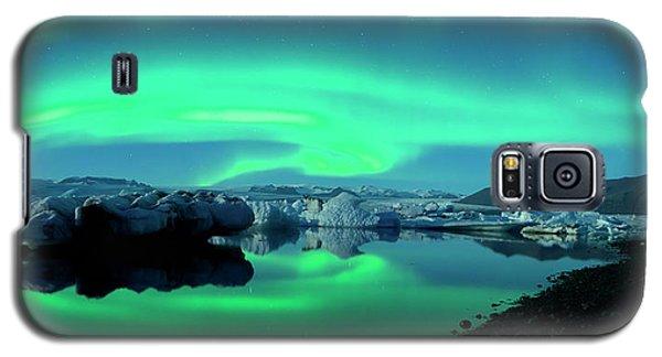 Dancing Auroras Jokulsarlon Iceland Galaxy S5 Case