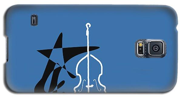 Dancing Bass In Blue Galaxy S5 Case by David Bridburg