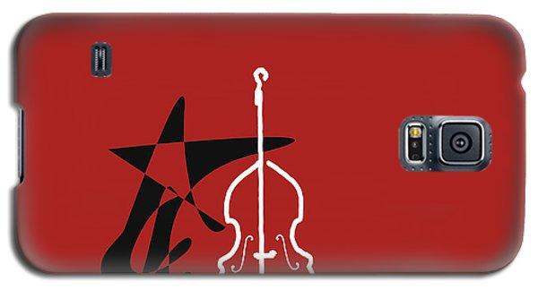 Dancing Bass In Orange Red Galaxy S5 Case by David Bridburg