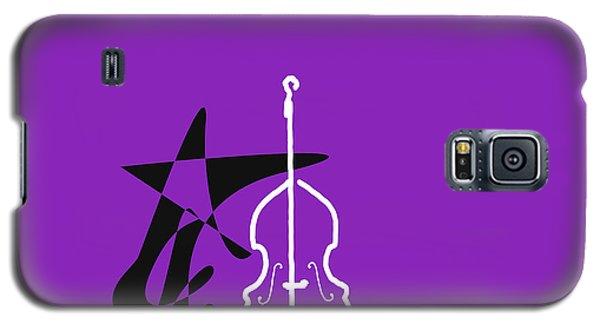 Dancing Bass In Purple Galaxy S5 Case by David Bridburg