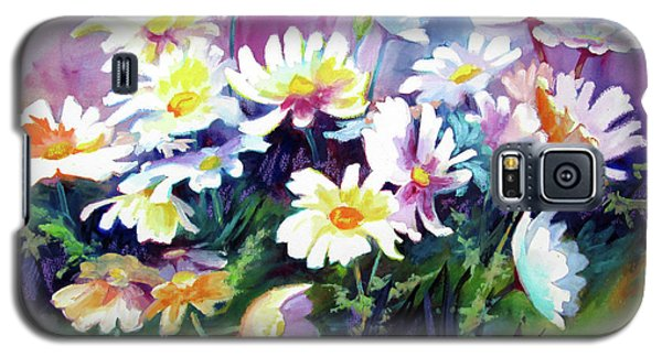 Galaxy S5 Case featuring the painting Dancing Daisies by Kathy Braud