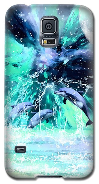 Dancing Dolphins Under The Moon Galaxy S5 Case