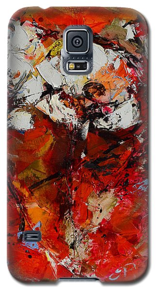 Galaxy S5 Case featuring the painting Dancing Flowers by Elise Palmigiani