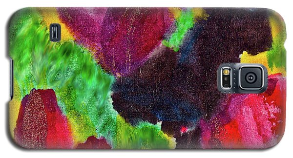Galaxy S5 Case featuring the painting Dancing Flowers by Joan Reese