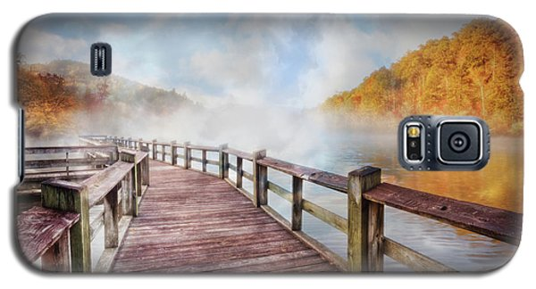 Galaxy S5 Case featuring the photograph Dancing Fog At The Lake by Debra and Dave Vanderlaan