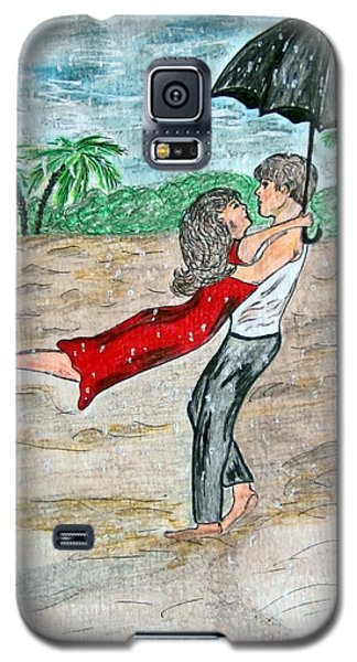 Dancing In The Rain On The Beach Galaxy S5 Case by Kathy Marrs Chandler