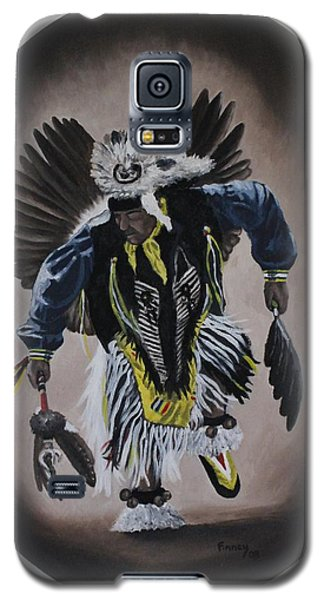 Galaxy S5 Case featuring the painting Dancing In The Spirit by Michael  TMAD Finney
